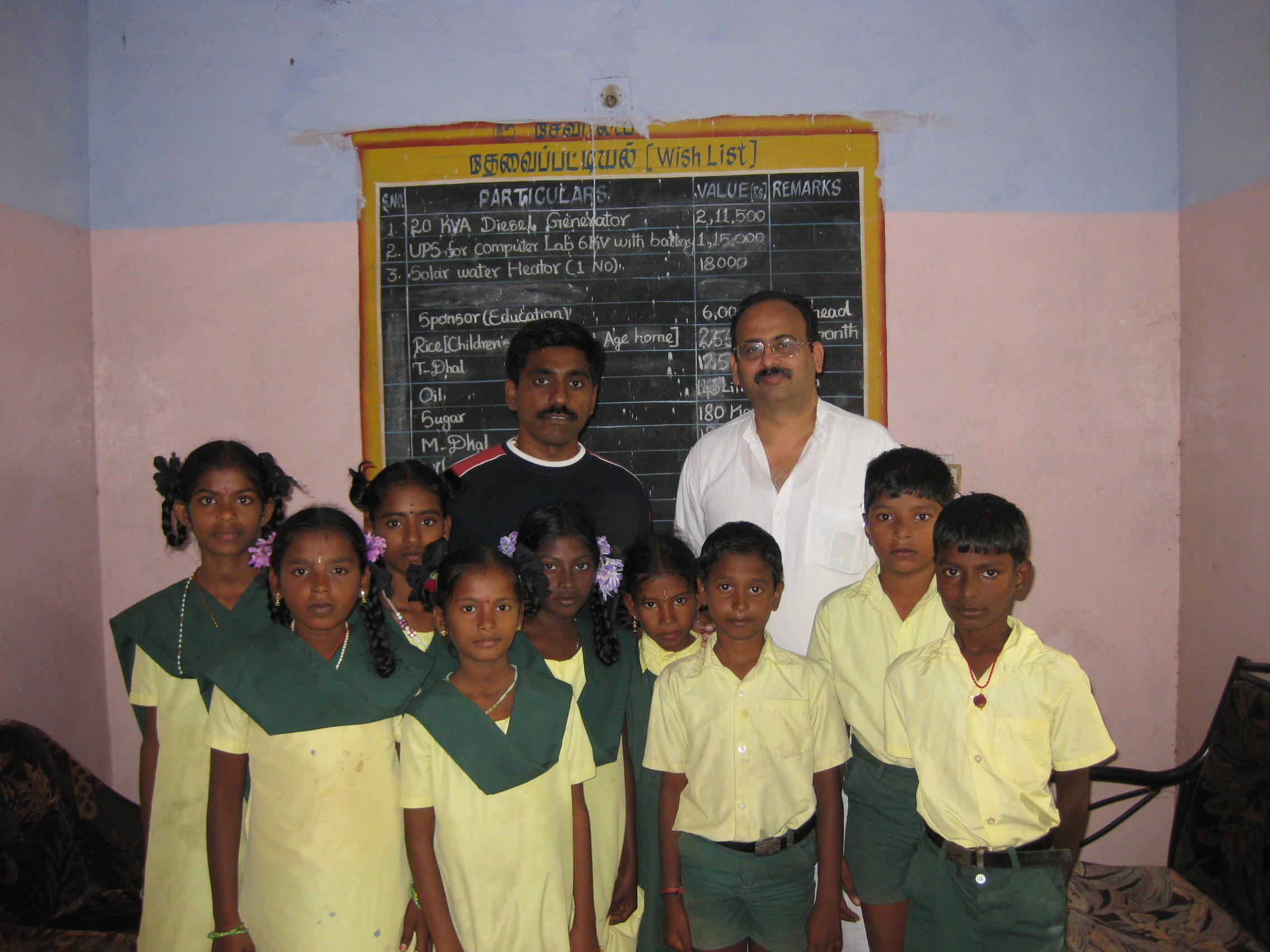 With Sponsoring Kids & Murali